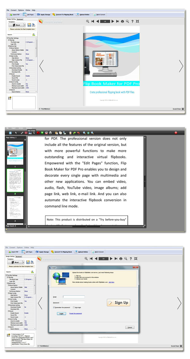 Windows 7 PDF to Flipping Book Pro 2.6 full