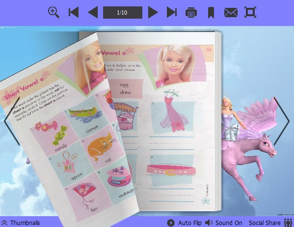 Barbie Theme for PDF to Flipping Book 1.0 full