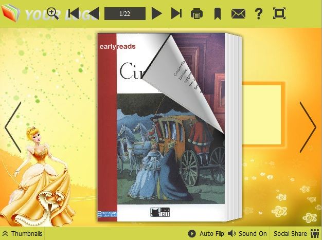Windows 7 Cindy Theme for PDF to Flipping Book Pro 1.0 full